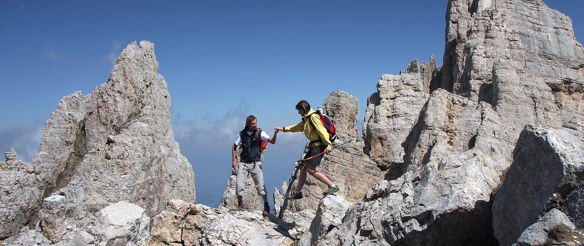 Climbing routes and vie ferrate