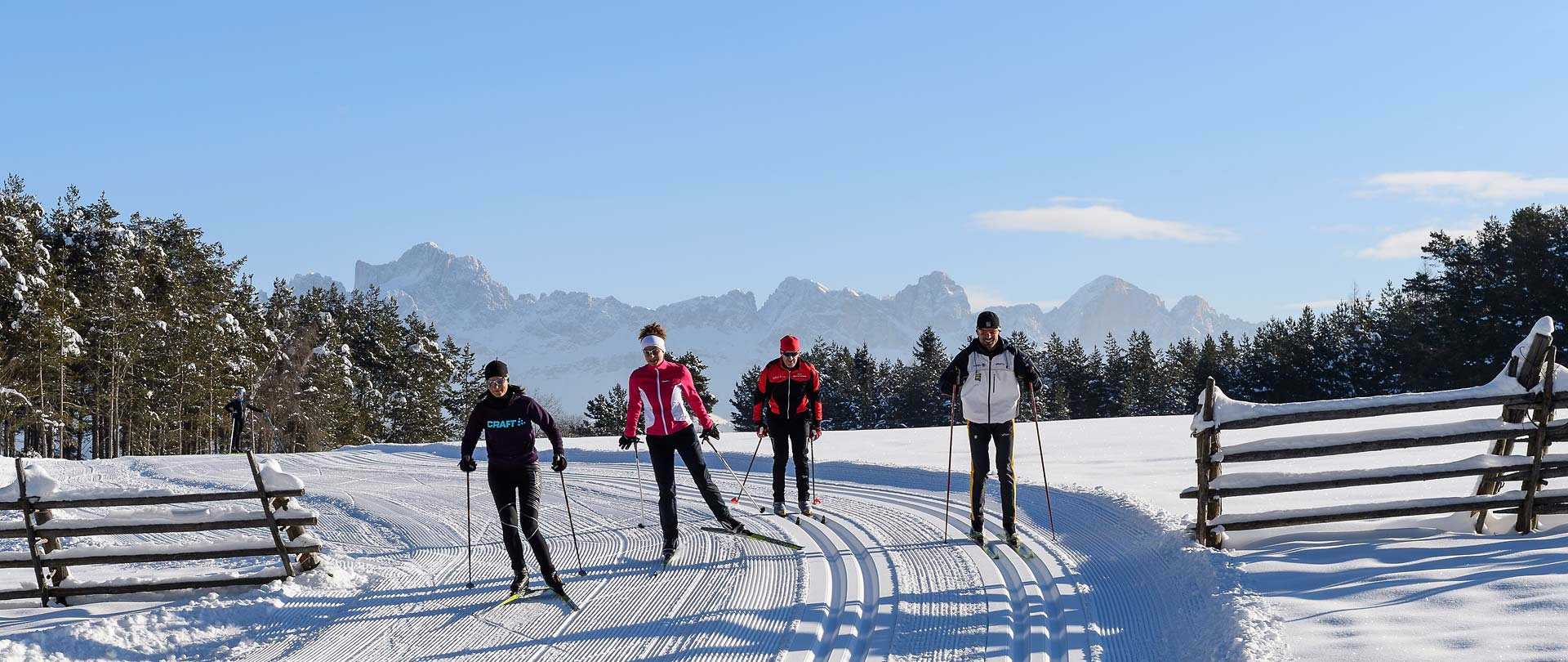 Cross-country skiing with panoramic views